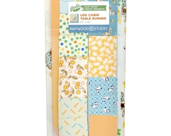 Pods - Easy Peasy Precut Projects - Log Cabin Table Runner - Orange