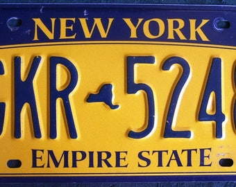 NEW YORK GKR5248 American License Number Plate
