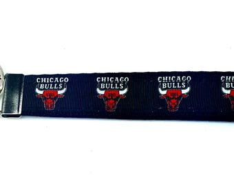 Chicago Bulls Keychain - Wristlet Keychain, Key Fob, Wrist Keychain