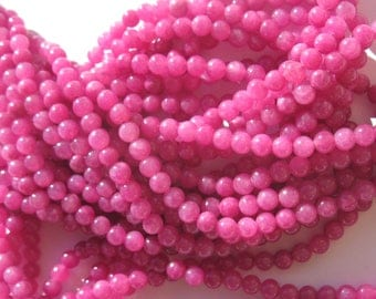 12 plum 4 mm (7-3) colorful agate beads