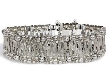 Vintage Artisan Silver Bracelet