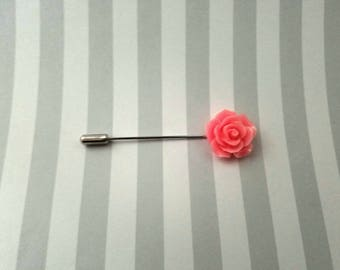 Classic Pink Rose Hat Pin