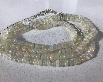 Handmade Natural Ethiopian Welo Fire Opal  Necklace