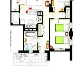 Floorplan of Ernie & Bert's apartment in Sesame St.
