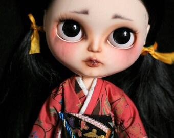 Futakuchi - onna. Sora. Muñeca Blythe de Custom OOAK.