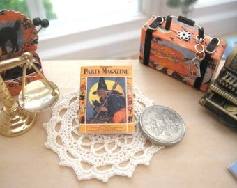halloween magazine vintage style 12th scale miniature