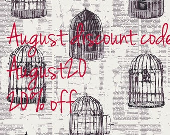 Uncaged Words Linen from Wonderland Collection by Katarina Roccella/ Art Gallery Fabrics/ Premium Cotton