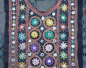 Embroidered yoke panel