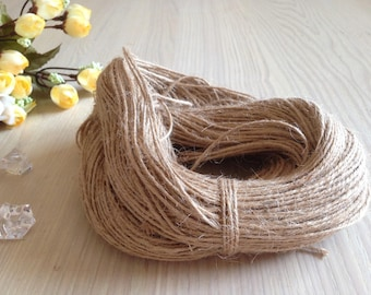 100m Natural Jute Twine Vintage Hemp String Scrapbooking Crafting Rustic Wedding Party Baby Shower Favors Embellishment Gift Wrapping