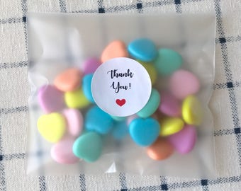 96pcs Matte Self Adhesive Plastic Bags Candy Cookie Jewellery Soap Packing Party Treat Sweet Bar Easter Gift Bag Wedding Baby Shower Favours