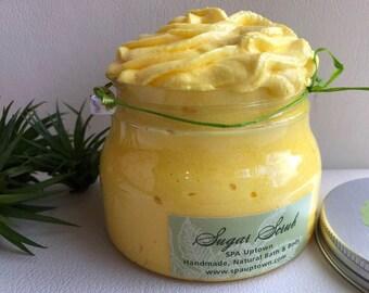 Fizzy LEMONADE- Facial Sugar Scrub-Designer jar, Green Label, SPA Uptown-8 fl oz-Ready Gift