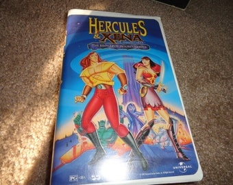 HERCULES AND XENA  Disney collectible vhs tape vintage vcr -vcr-vhs-tape-vhs tape- vcr tape- vcr machine- tape player--Disney-