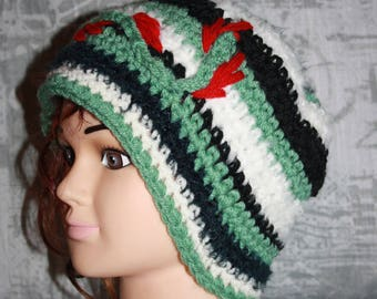 very warm, classic multicolored Beanie