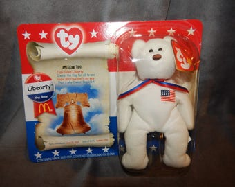 """Vintage TY """"Libearty"""" Bear American Trio Collection made for Mc Donalds"""