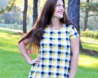 Ladies Two Tone Tunic PDF Sewing Pattern