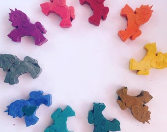 Unicorn shaped Crayons 4 pack choose 4colors goody bags party