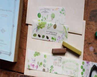 Fion Stewart Watercolor Washi Tape FS-023 - Up The Apple Tree (Mint Green)