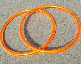 "Custom Taped 10"" - 14""  5/8"" Pair Tiny Mini Hoops Fans Flow Props Micro minis"