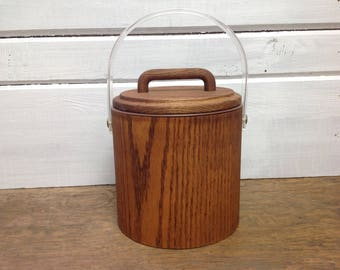 Mid Century Wood Ice Bucket Cornwall