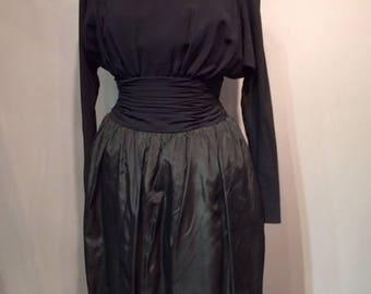 1950s Black Dress with crinoline