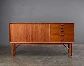 RESERVED: Mid Century Sideboard Credenza Solid Teak Peter Hvidt Søborg Danish Modern
