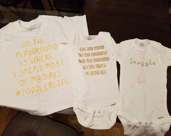 Personalized TShirts and Onesies