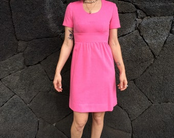 1960's Hot Pink Party Dress