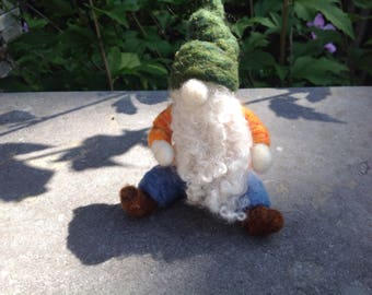 Needle felted gnome,Gnome ,Forest gnome