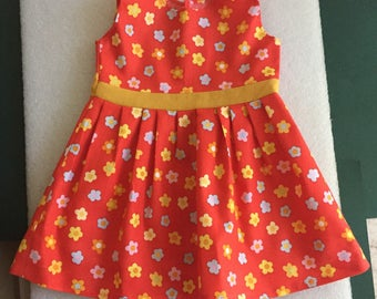 Cabbage Patch dress red with flowers