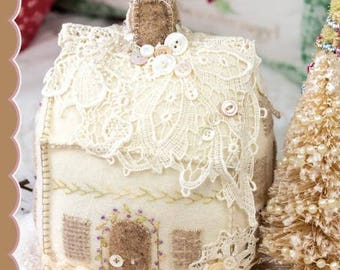 Lucy Wool Cookie House Pincushion