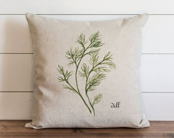 Botanical Dill 20 x 20 Pillow Cover // Everyday // Herbs // Gift // Accent Pillow