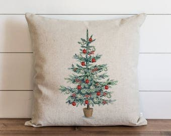 Christmas Tree 20 x 20 Pillow Cover // Christmas // Ornaments // Holiday // Winter // Throw Pillow // Gift // Accent Pillow