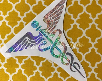 Registered Nurse RN Medical Decal YETI Car Tumbler Window Phone Decal Two Tone Pattern Paisley LP Colorful