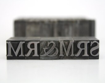 Letterpress Letters and Numbers / Vintage Foundry Type / Pick Your Letters