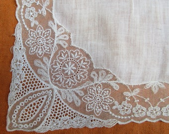 "Vintage embroidered hanky 11"" x 11"""
