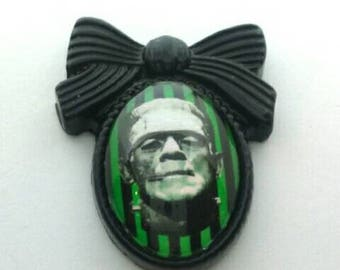 Bow Frankenstein Pin Brooch