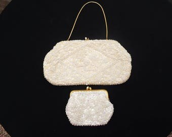 Vintage Beaded Purse with change purse