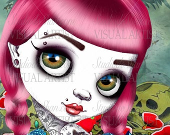 """Bad Dorothy from the series """"Bad Princesses"""" 11x14"""" Art Print by deShan"""