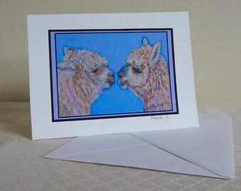 alpaca art - alpaca card - alpaca print - alpaca painting - alpaca gift - alpaca lover gift - llama - keepsake - llama print - llama art