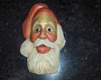 Hand Carved Wood Santa free shipping