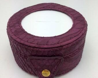 Needlepoint LEE Gift Box LEATHER Purple -Free US Shipping!!!