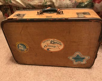 1940's suitcase | Etsy