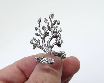 Exquisite Sterling Silver Ring Tree of Life, Tree Ring, Branch Ring, Adjustable Ring, Handmade Silver Ring, Silver Tree, Best Gift For Her