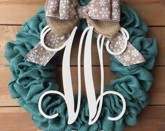 Front Door Wreath | Burlap Wreath | Everyday Wreath | Year Round Wreath |  Winter Wreath