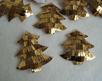 Tree with sequins, gold, 5 pieces (1141)