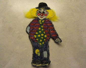 A Large Colorful Clown Patch  - FREE Shipping