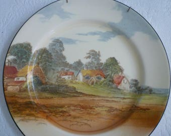 ROYAL DOULTON Collector PLATE. Vintage 1940's English Country Cottage Scene. Collectible Vintage Royal Doulton Plate.