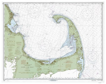 Cape Cod Bay - 1968 Nautical Map - 80000 AC Reprint Ed - Chart 1208-13426