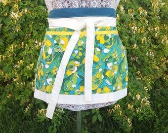 Vintage floral half apron
