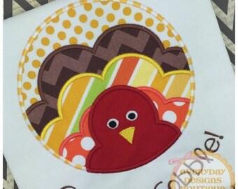 ON SALE Gobble Gobble Machine Embroidery Applique Design